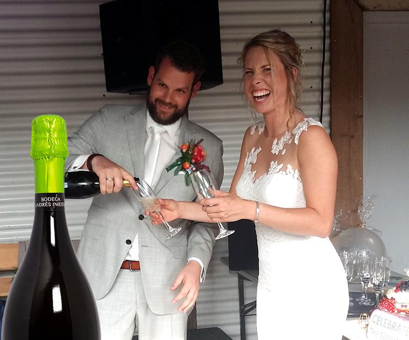 Heerlijke Cava op onze bruiloft