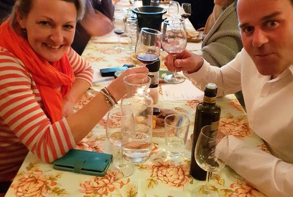 wijnproeverij op locatie robin en carolien